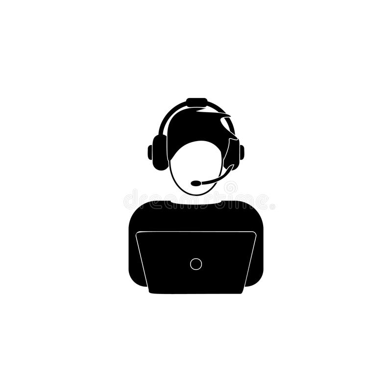 ícone do avatar a TI Elemento do ícone popular dos avatars Projeto gráfico da qualidade superior Sinais, ícone para Web site, Web ilustração royalty free