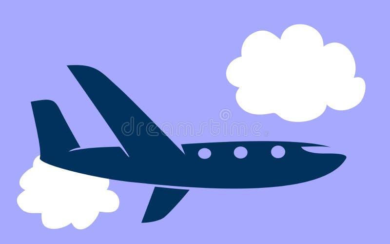 Ícone do avião ilustração royalty free