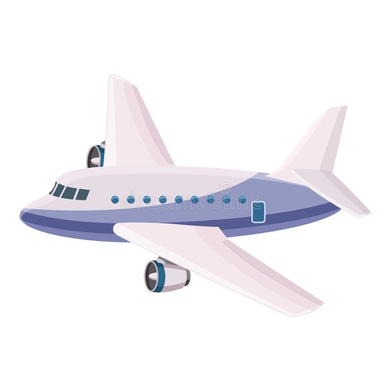 Ícone do avião de passageiros do passageiro, estilo dos desenhos animados ilustração royalty free
