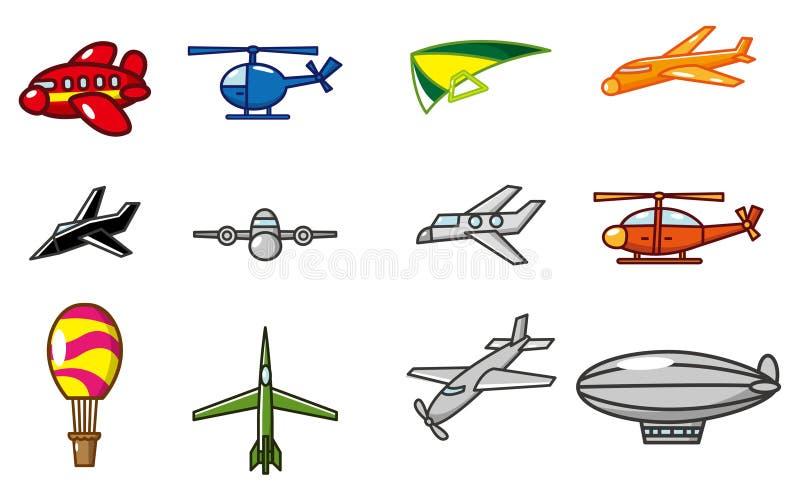 Ícone do avião dos desenhos animados ilustração royalty free