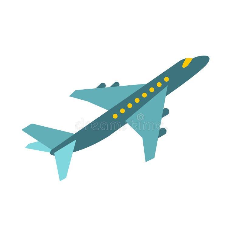 Ícone do avião do passageiro ilustração stock