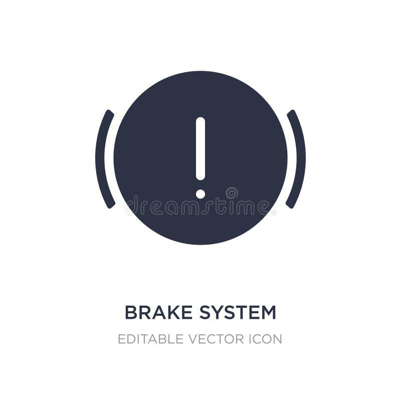 ícone do aviso de sistema do freio no fundo branco Ilustração simples do elemento do conceito das formas ilustração royalty free
