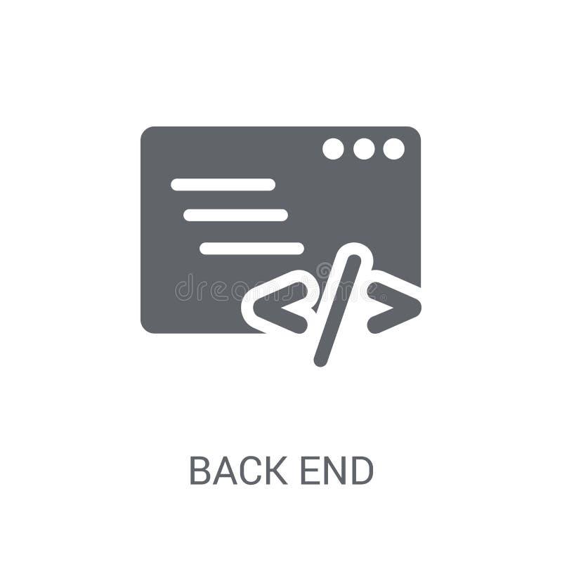 Ícone do back-end  ilustração do vetor