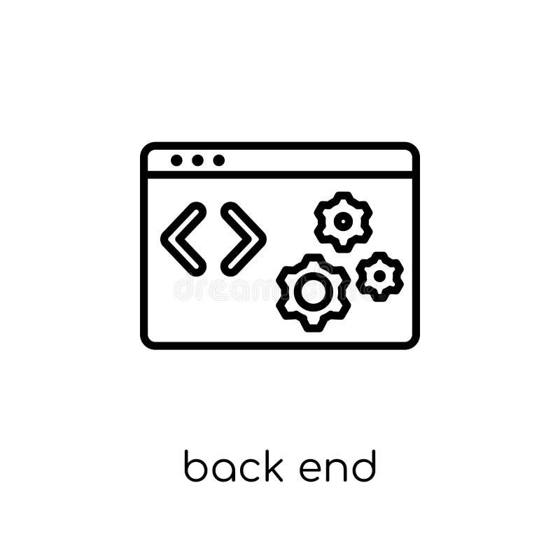 Ícone do back-end Ícone linear liso moderno na moda do back-end do vetor sobre ilustração royalty free