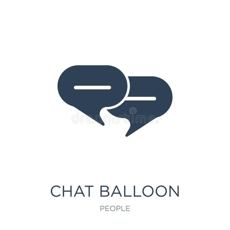 ícone do balão do bate-papo no estilo na moda do projeto ícone do balão do bate-papo isolado no fundo branco ícone do vetor do ba ilustração royalty free
