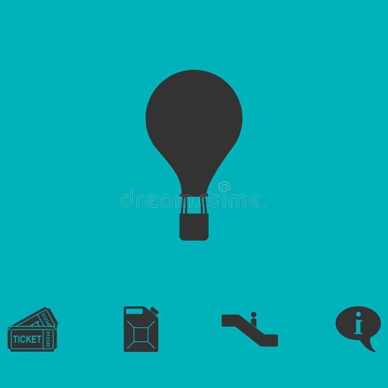 Ícone do balão de ar quente liso ilustração royalty free