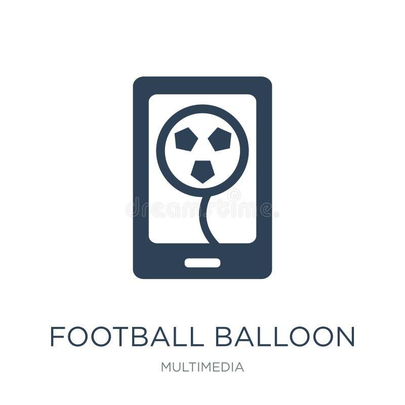 ícone do balão do futebol no estilo na moda do projeto ícone do balão do futebol isolado no fundo branco ícone do vetor do balão  ilustração royalty free