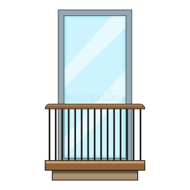 Ícone do balcão do trilho, estilo dos desenhos animados ilustração royalty free