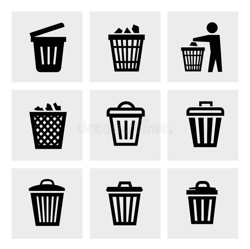 Ícone do balde do lixo ilustração do vetor
