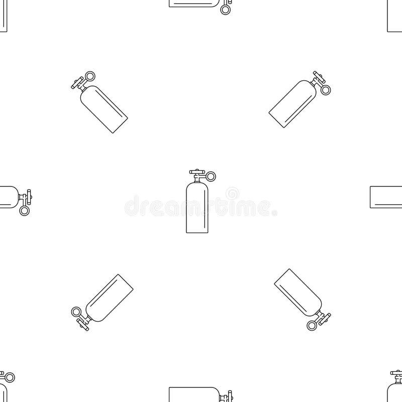 Ícone do ballon da soldadura de gás, estilo do esboço ilustração stock