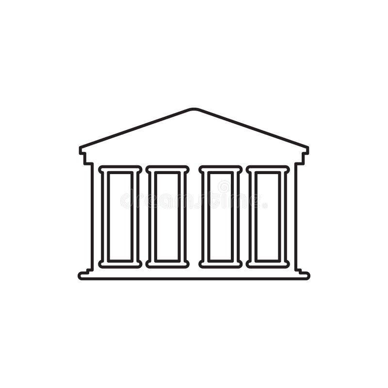 Ícone do banco Edifício da finança ilustração royalty free