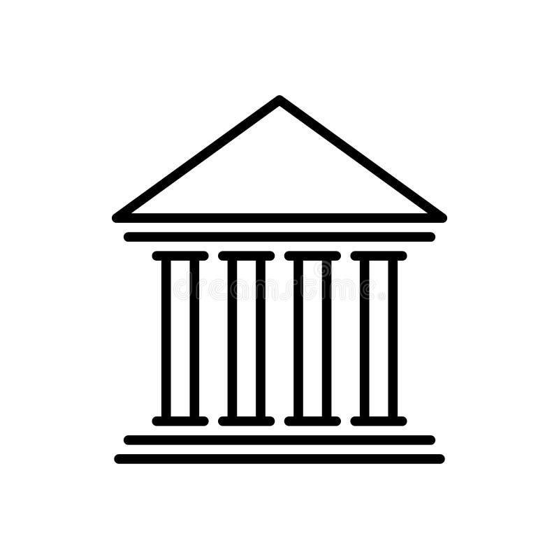 Ícone do banco Edifício da finança ilustração do vetor