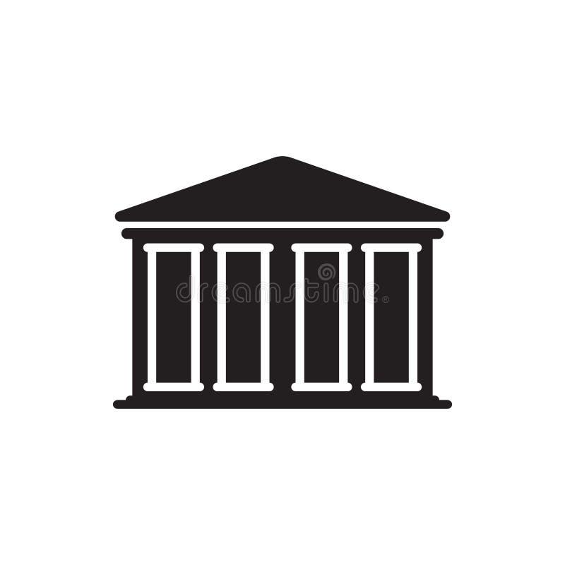 Ícone do banco Edifício da finança ilustração stock