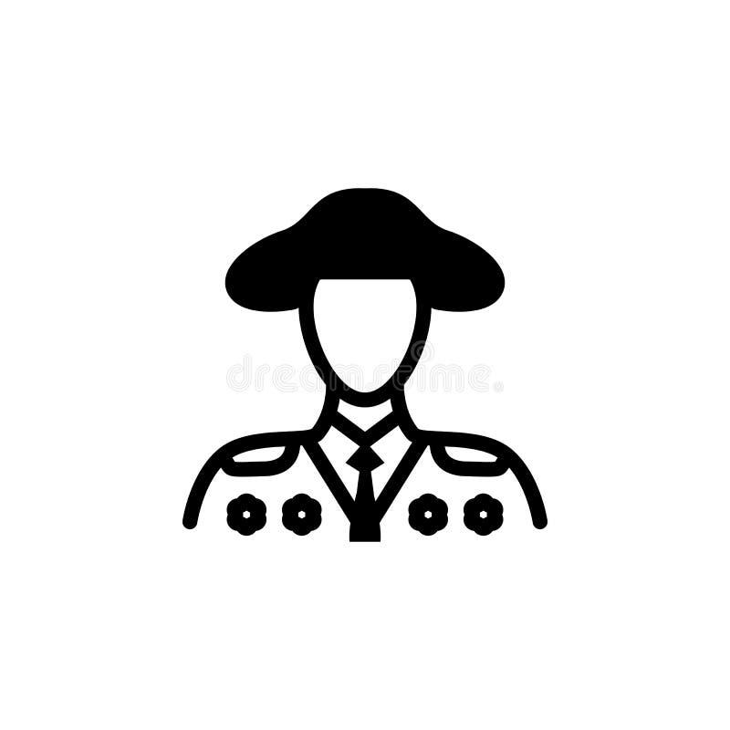 Ícone do Banderillero Elemento da cultura do ícone de spain Ícone superior do projeto gráfico da qualidade sinais e coleção dos s ilustração royalty free