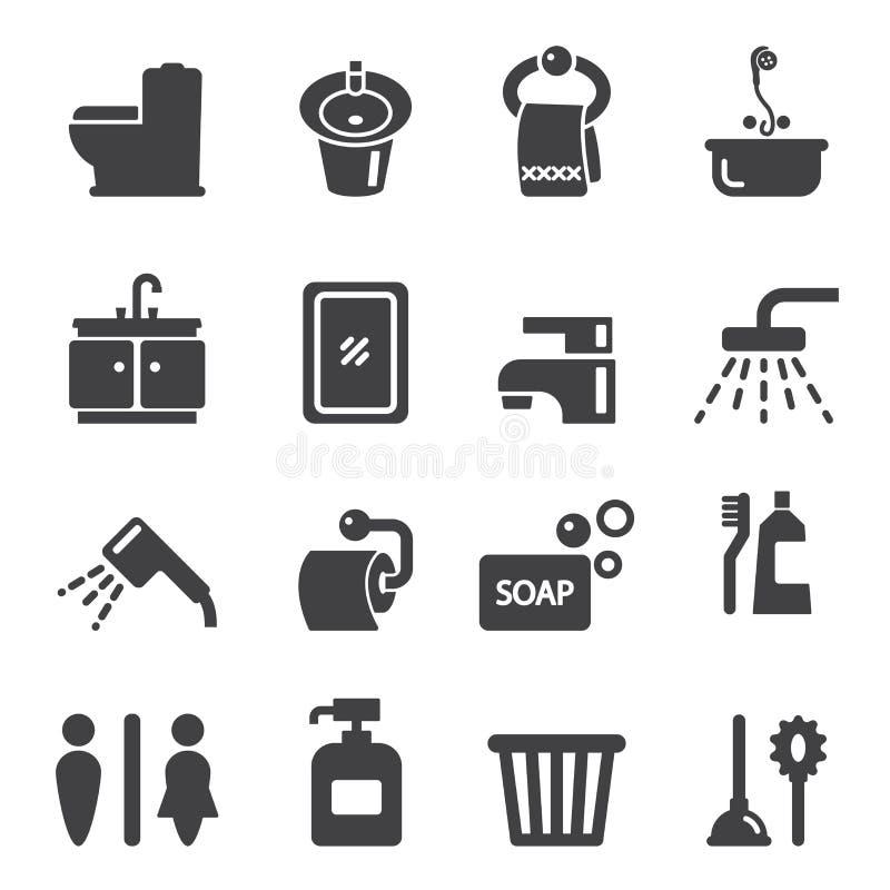 Ícone do banheiro ilustração stock