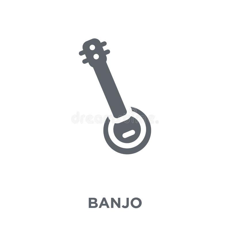 Ícone do banjo da coleção ilustração stock