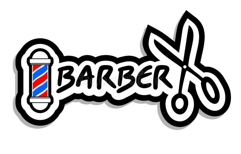 Ícone do barbeiro ilustração stock
