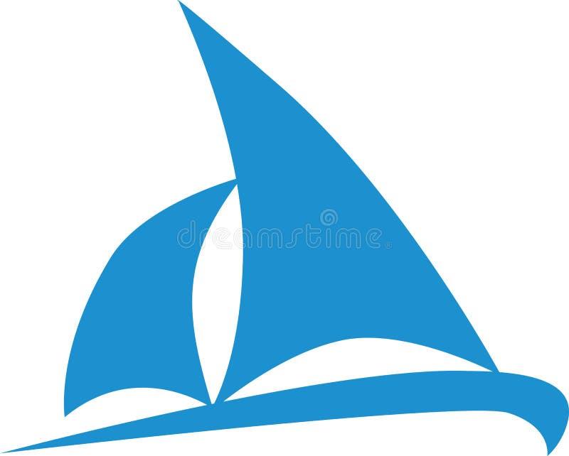 Ícone do barco de navigação ilustração royalty free