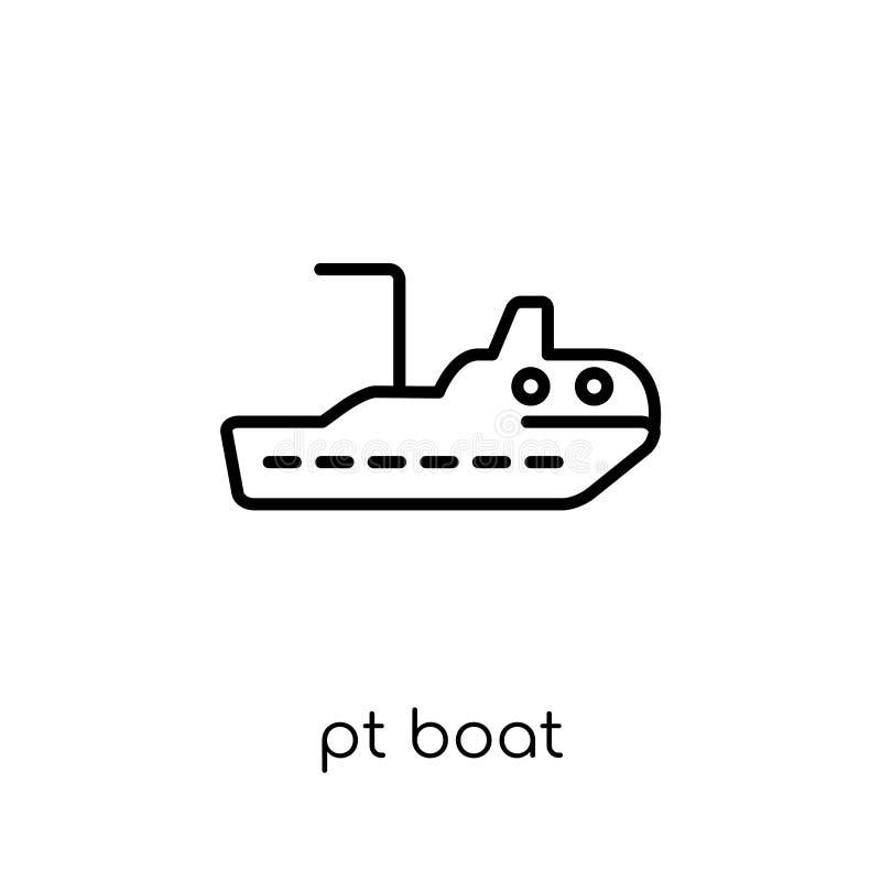 Ícone do barco de pinta da coleção do transporte ilustração do vetor