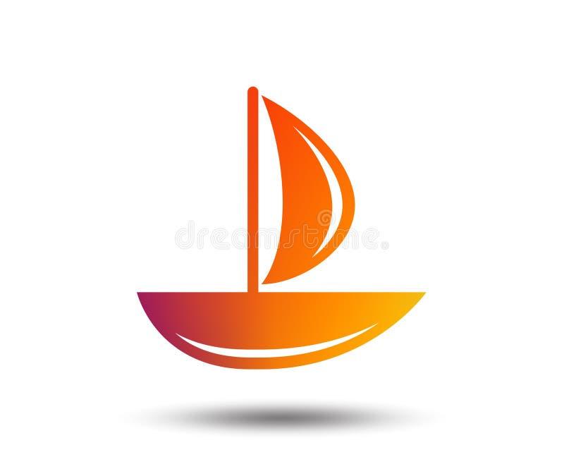 Ícone do barco de vela Sinal do navio ilustração stock