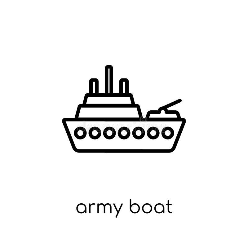 ícone do barco do exército da coleção do exército ilustração do vetor