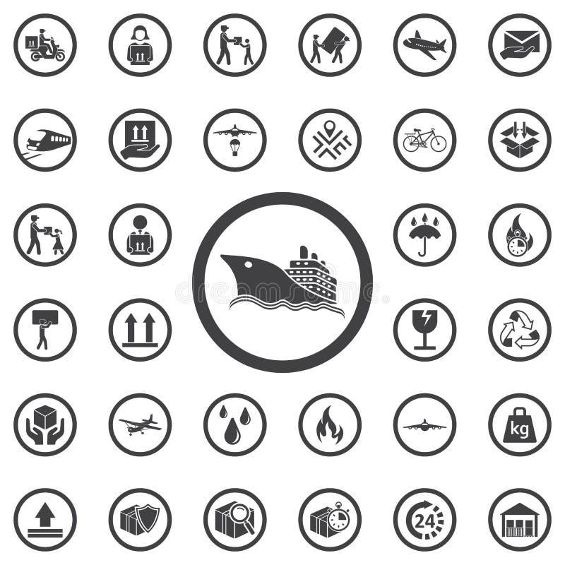 Ícone do barco do símbolo ilustração royalty free