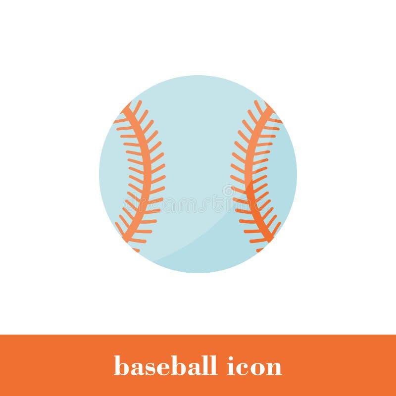 Ícone do basebol no estilo liso ?cone ilustração stock