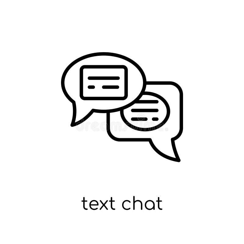Ícone do bate-papo do texto Ícone linear liso moderno na moda do bate-papo do texto do vetor ilustração stock