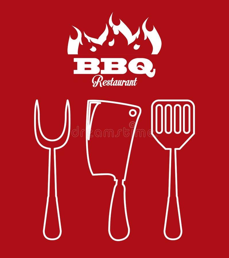 Ícone do BBQ ilustração royalty free
