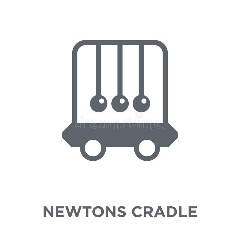 Ícone do berço dos newtons da coleção ilustração royalty free