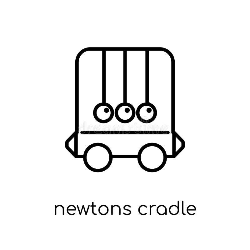 Ícone do berço dos newtons da coleção ilustração stock