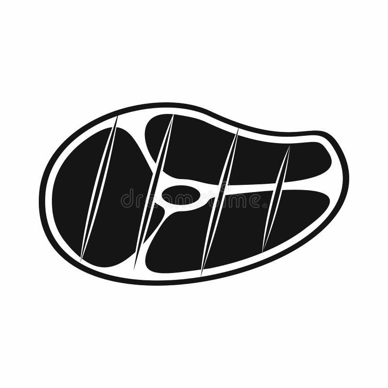 Ícone do bife, estilo simples ilustração stock