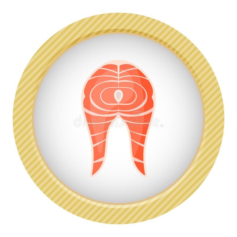 Ícone do bife Salmon ilustração royalty free