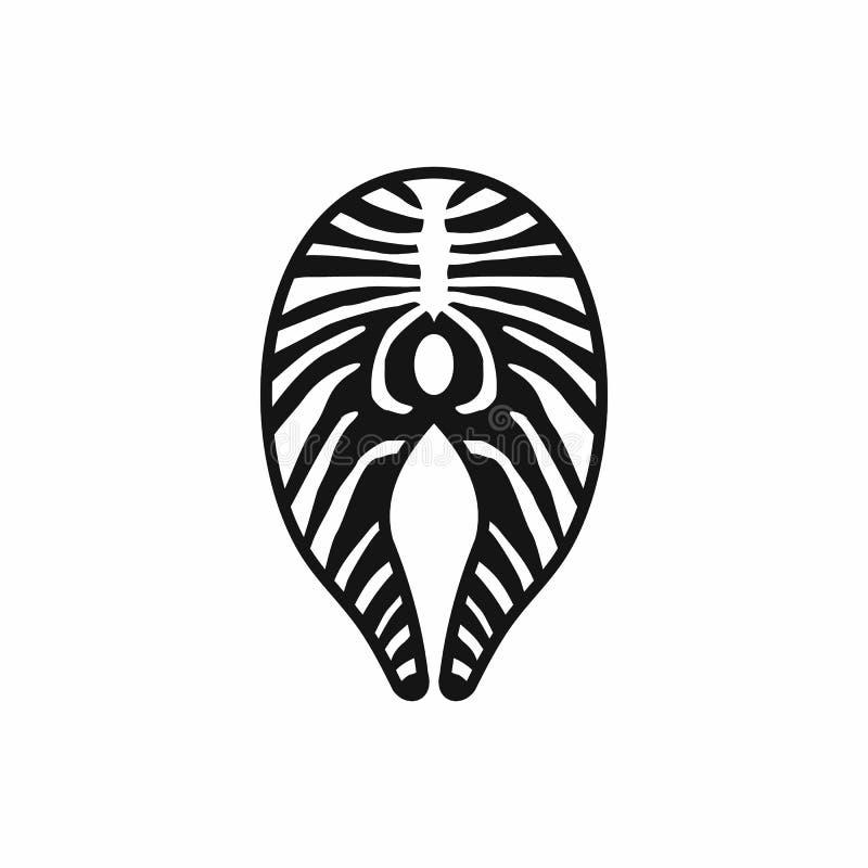 Ícone do bife Salmon, estilo simples ilustração royalty free