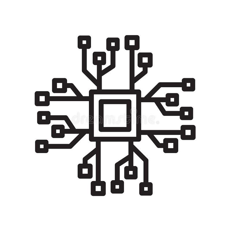 ícone do bigdata isolado no fundo branco ilustração royalty free