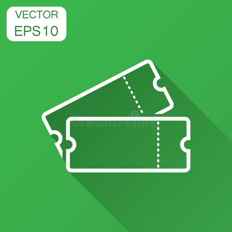 Ícone do bilhete do cinema no estilo liso Admita um vect da entrada do vale ilustração do vetor