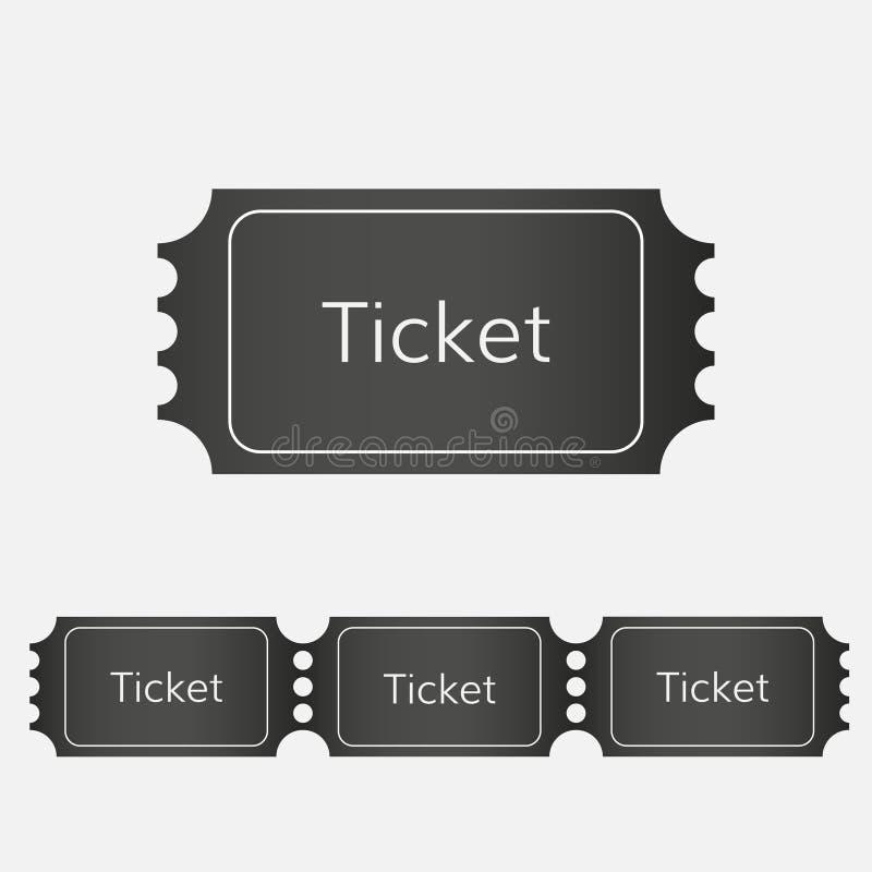 Ícone do bilhete da rifa ilustração stock