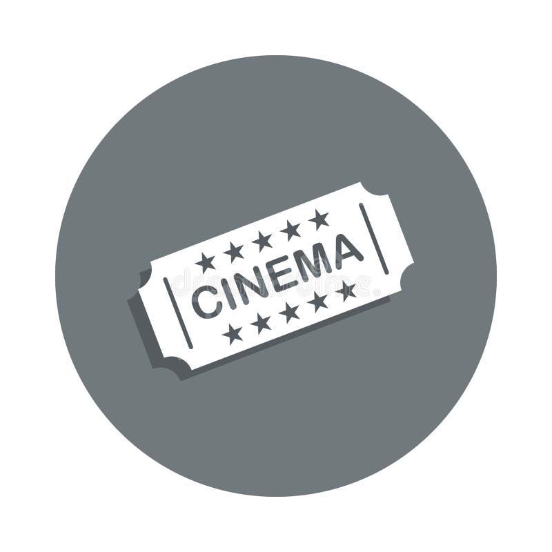 ícone do bilhete do filme no estilo do crachá Um do ícone da coleção do cinema pode ser usado para UI, UX ilustração stock