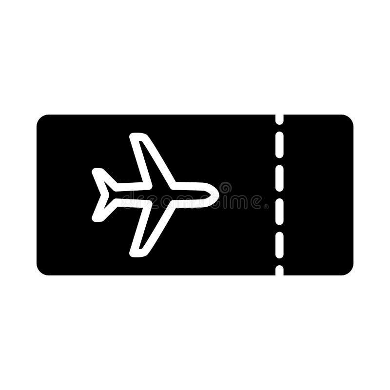 Ícone do bilhete plano Pictograma 96x96 mínimo simples do vetor ilustração stock