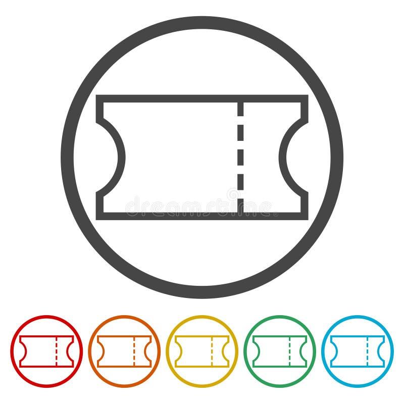 Ícone do bilhete ilustração stock