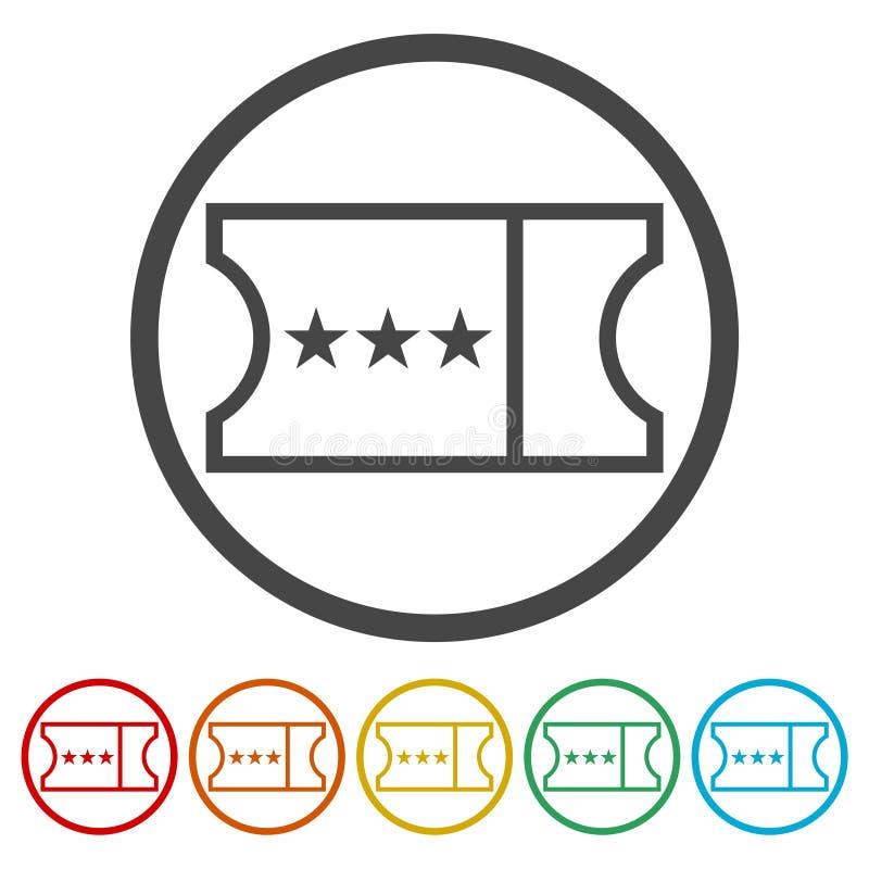 Ícone do bilhete ilustração do vetor
