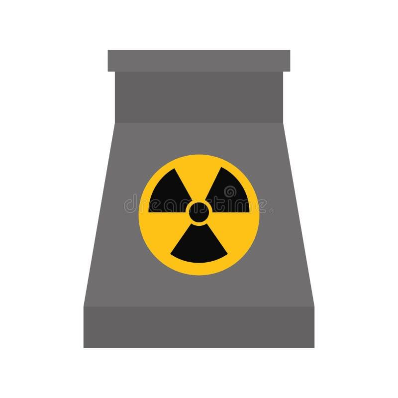 Ícone do Biohazard Projeto de central nuclear Gráfico de vetor ilustração do vetor