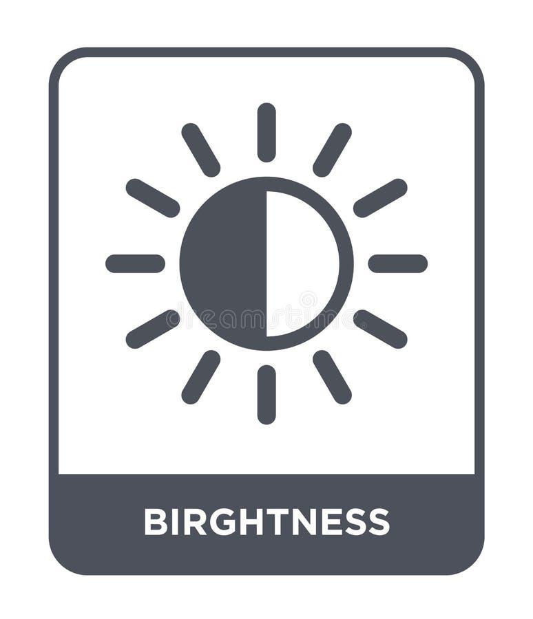 ícone do birghtness no estilo na moda do projeto ícone do birghtness isolado no fundo branco ícone do vetor do birghtness simples ilustração royalty free