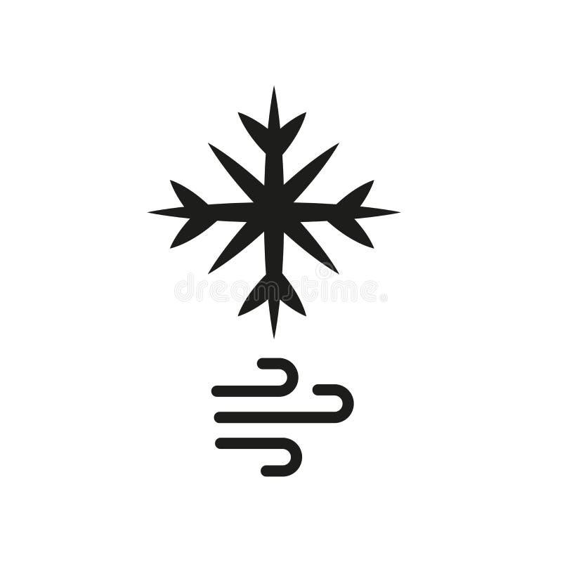 ícone do blizzard  ilustração stock