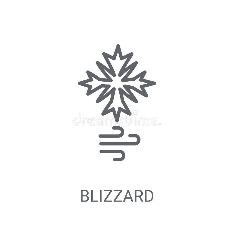 ícone do blizzard Conceito na moda do logotipo do blizzard no fundo branco ilustração royalty free