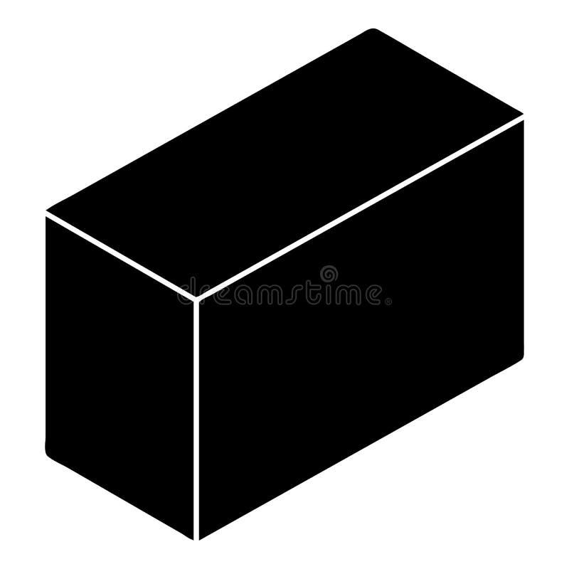 Ícone do bloco do cimento, estilo simples ilustração stock