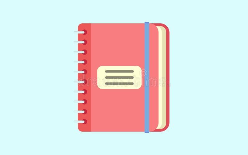 ícone do bloco de notas Ilustração lisa do ícone do caderno do ícone do vetor do bloco de notas para a Web ilustração do vetor