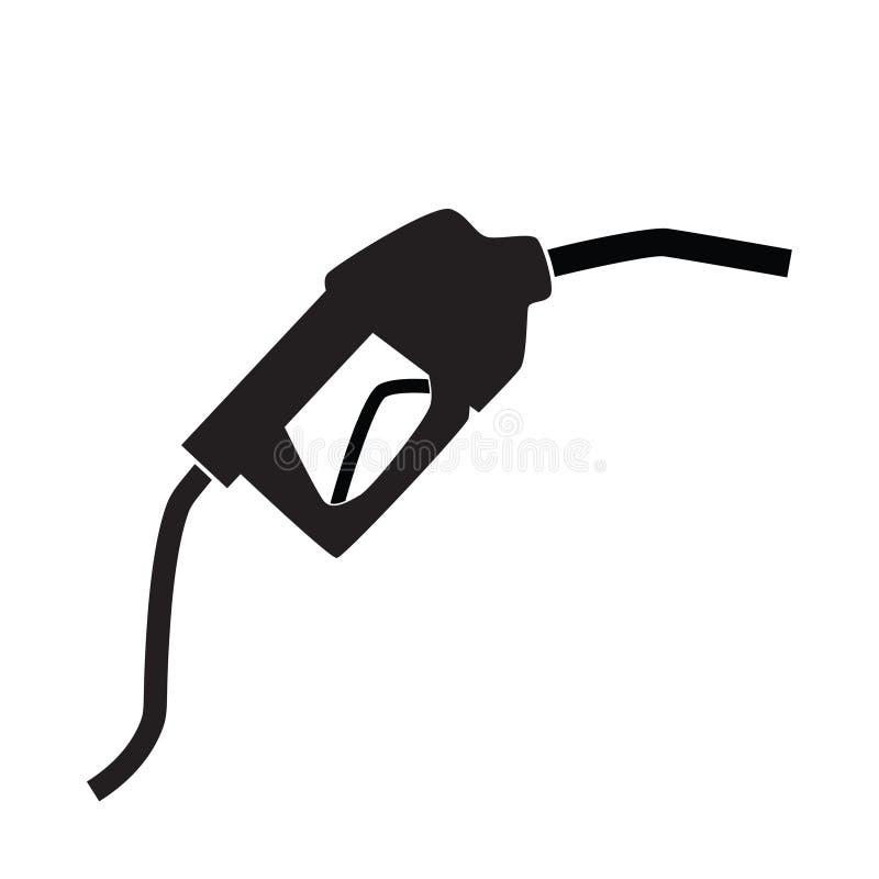 Ícone do bocal da bomba de combustível ilustração royalty free