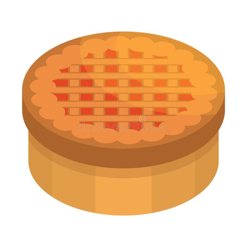 Ícone do bolo da ação de graças, estilo isométrico ilustração do vetor