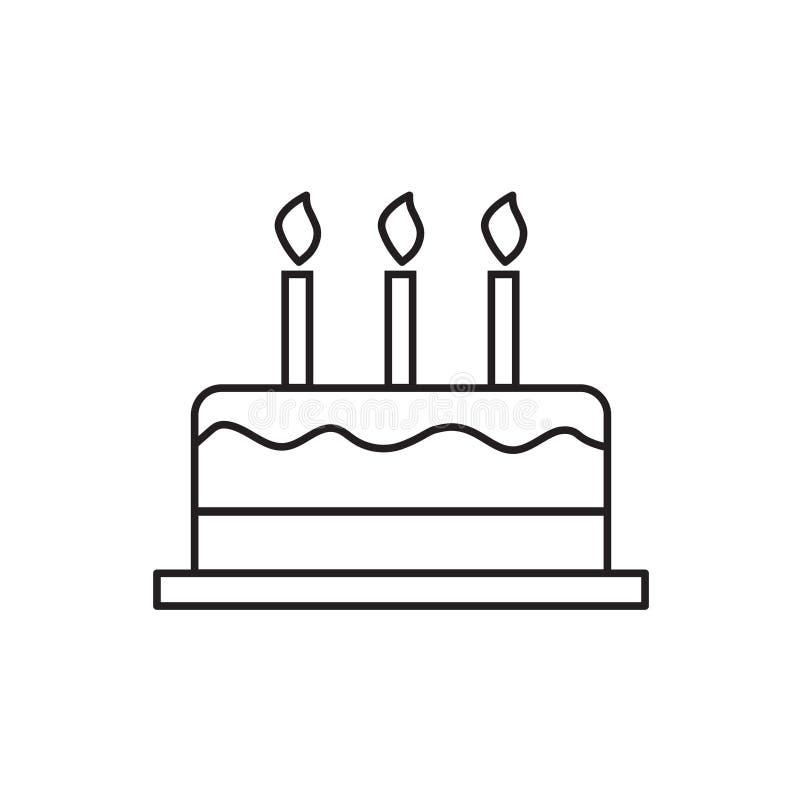 Ícone do bolo de aniversário ilustração royalty free